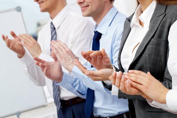 Handen foto vergadering Stockfoto © pressmaster