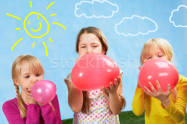 Inflating Stock photo © pressmaster
