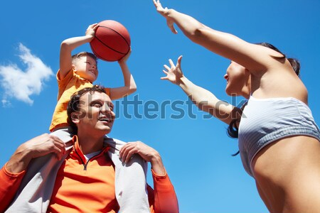 Playing basketball Stock photo © pressmaster