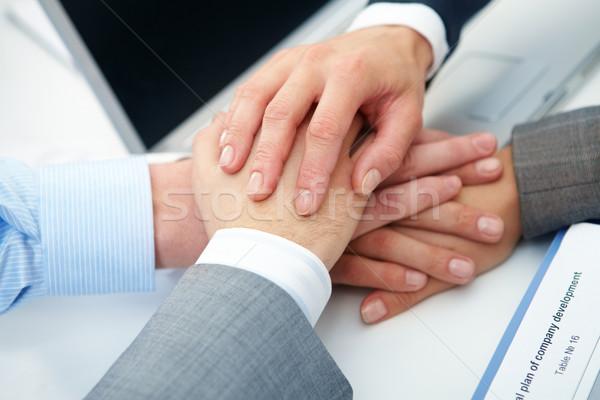 изображение деловые люди рук Top другой Сток-фото © pressmaster