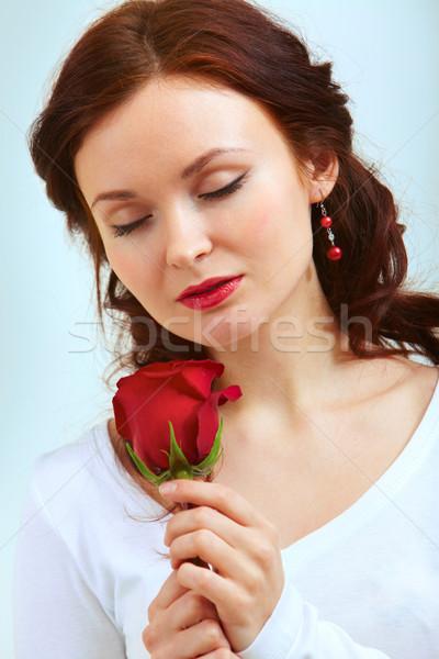 Smell of rose Stock photo © pressmaster