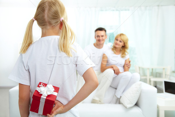 Girl with giftbox Stock photo © pressmaster