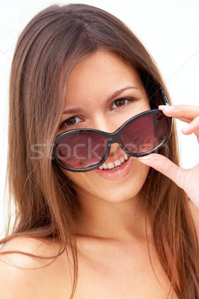 Nyár lány portré függőleges mosolyog visel Stock fotó © pressmaster
