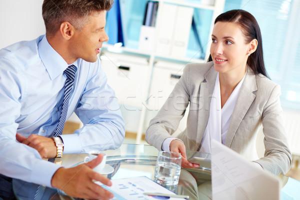 Partner praten geslaagd zakenlieden praten zakelijke relatie Stockfoto © pressmaster