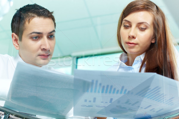 Stock photo: Looking at documents