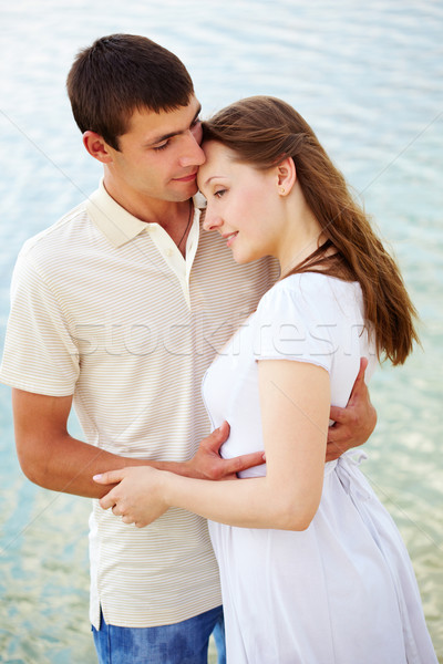 Tendresse photo paisible couple ensemble Photo stock © pressmaster