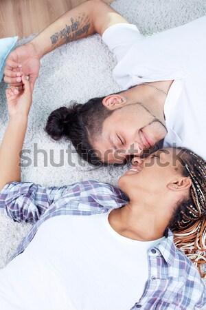 élvezi közelség kép boldog pár együttlét Stock fotó © pressmaster