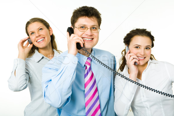 связи портрет три Консультанты бизнеса Сток-фото © pressmaster