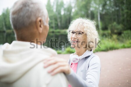 Walking with patient Stock photo © pressmaster