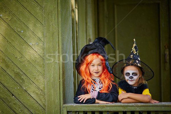 Halloween girls Stock photo © pressmaster