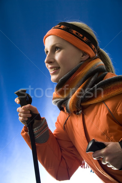 Bright skiing Stock photo © pressmaster