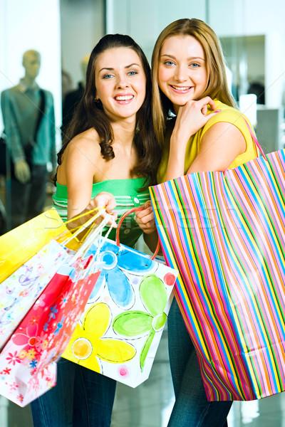 Stockfoto: Meisjes · verticaal · afbeelding · twee · mooie