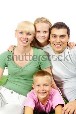 4人 肖像 幸せ 一緒に 白 女性 ストックフォト © pressmaster