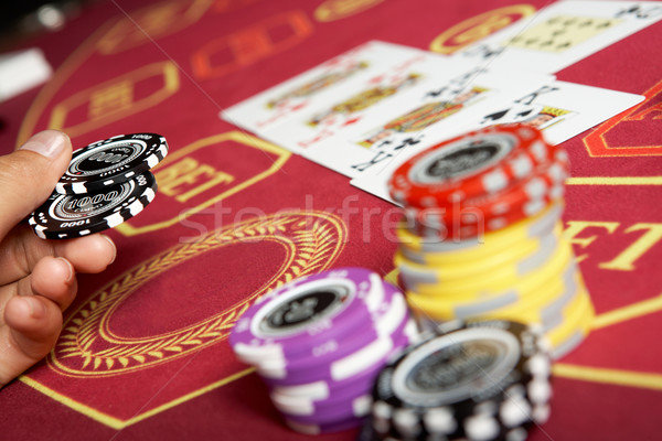 Casino image noir puces main table Photo stock © pressmaster
