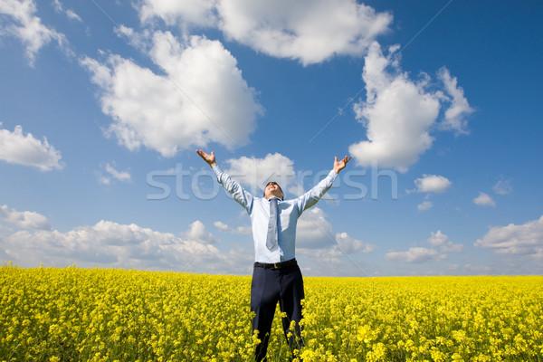 ストックフォト: 男 · 画像 · 幸せ · 勝者