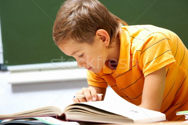 Lectura chico retrato inteligentes libro lugar Foto stock © pressmaster