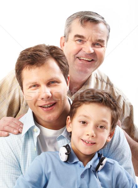 Zdjęcia stock: Trzy · mężczyzn · portret · ojciec · dziadek · syn