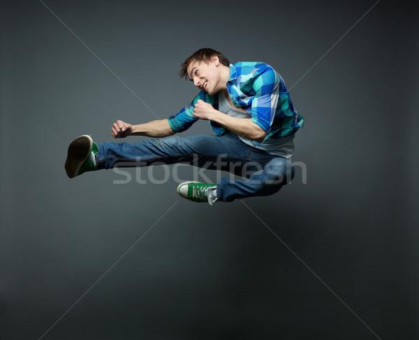Jump and kick Stock photo © pressmaster