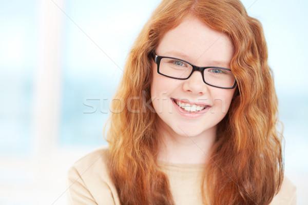 Jó hangulat közelkép portré vörös hajú nő tini fiatal Stock fotó © pressmaster