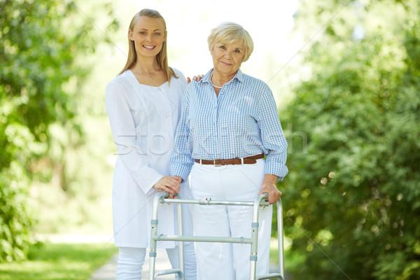 Carer and senior female Stock photo © pressmaster