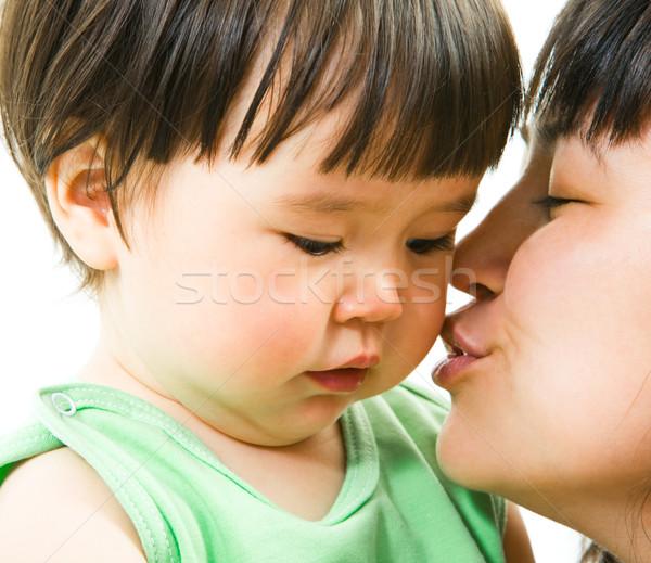 Sweet поцелуй матери целоваться небольшой Сток-фото © pressmaster