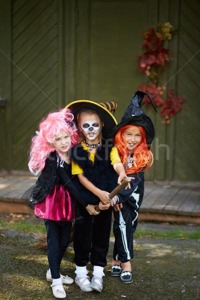Halloween girls Stock photo © pressmaster
