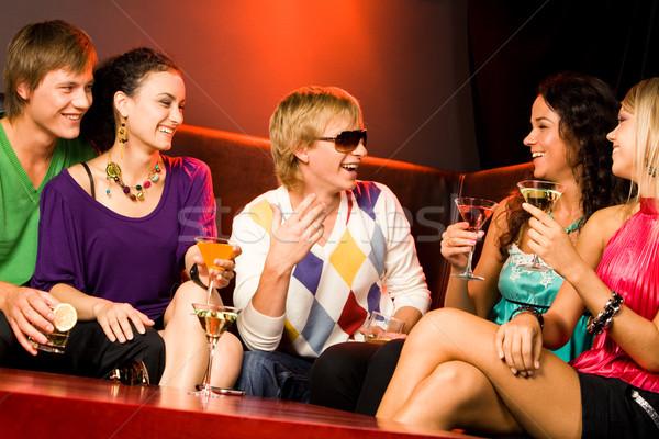 дружественный чате изображение счастливым подростков Сток-фото © pressmaster