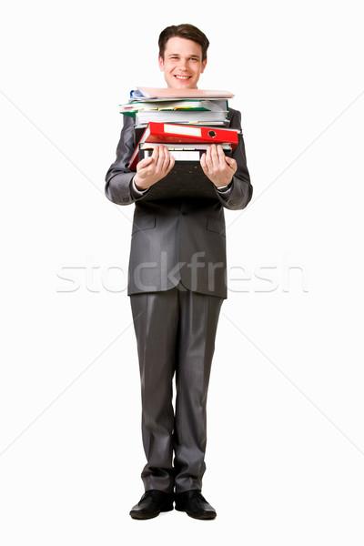 Exitoso hombre foto documentos mirando Foto stock © pressmaster