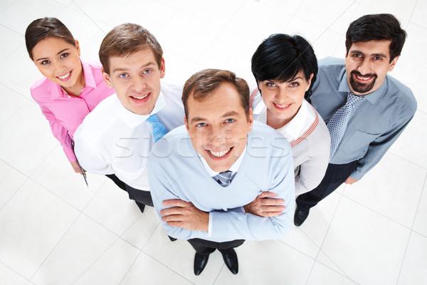 Squadra di affari sopra view parecchi di successo partner Foto d'archivio © pressmaster