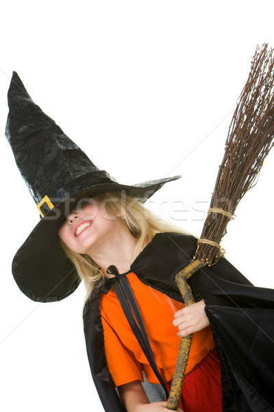 Girl in Halloween attire Stock photo © pressmaster