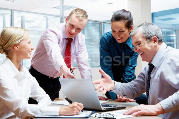 Сток-фото: фото · бизнесменов · проект · ноутбука · предпринимателей