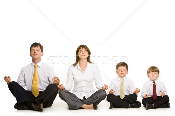 Zdjęcia stock: Wraz · Fotografia · spokojny · rodziny · posiedzenia