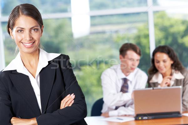 Stock fotó: Vezető · portré · sikeres · üzlet · hölgy · néz