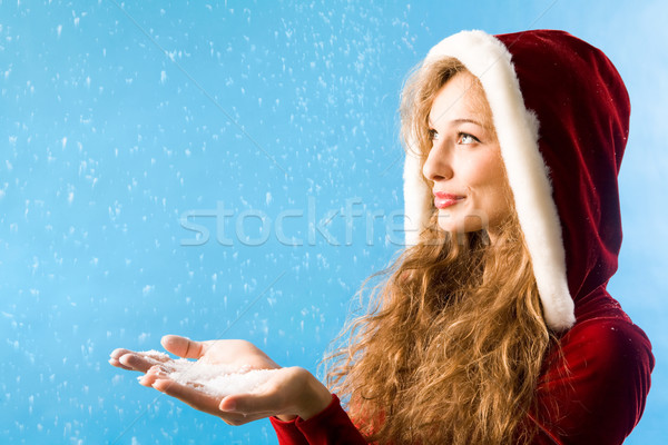 Christmas snowfall Stock photo © pressmaster