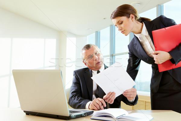Сток-фото: договор · довольно · женщины · документа · Boss
