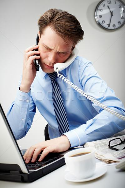 Very busy man  Stock photo © pressmaster