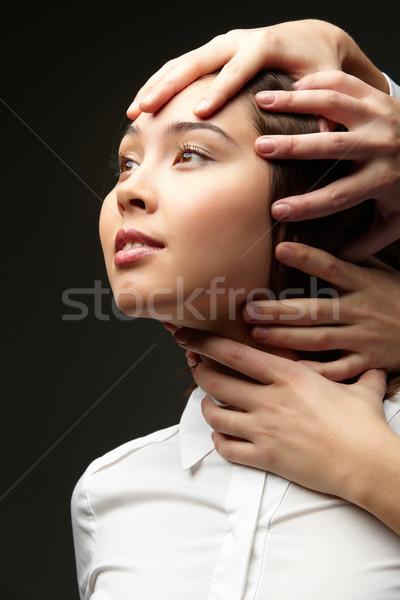Dependencia manos jóvenes mujer de negocios Foto stock © pressmaster