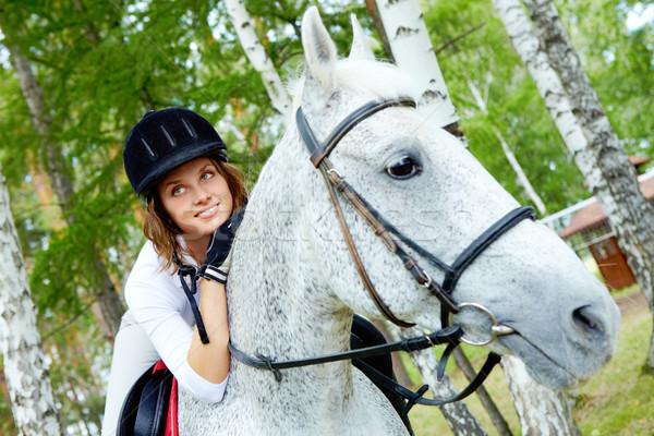 Female on horse Stock photo © pressmaster