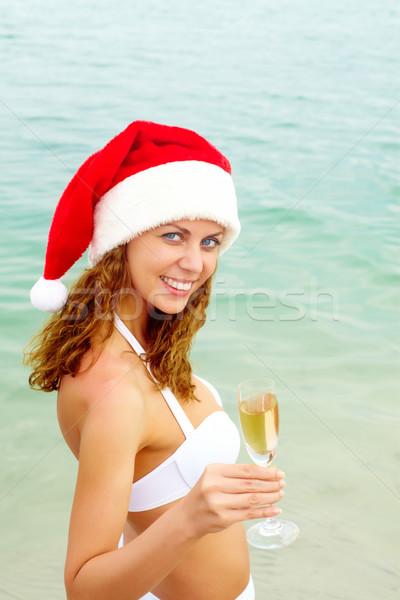 Buon anno toast ritratto sorridere femminile Foto d'archivio © pressmaster