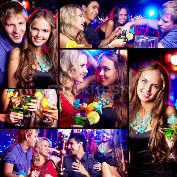 Stock photo: Friends at party