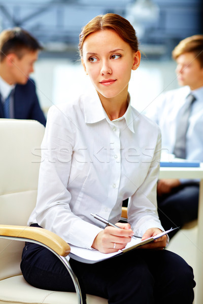 бизнеса мечтатель довольно деловой женщины посмотреть Сток-фото © pressmaster