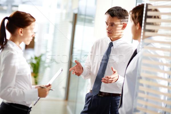 Foto stock: Negocios · interacción · maduro · empresario · jóvenes · secretario