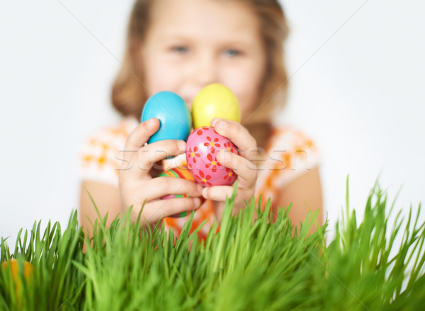 Eggs in hands Stock photo © pressmaster