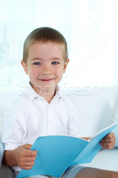 Lad Schönschreibheft Junge Freizeit home Schule Stock foto © pressmaster