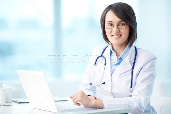 Zdjęcia stock: Lekarz · pracy · portret · uśmiechnięty · pracy · biuro