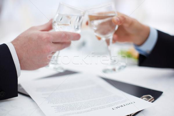новых дело изображение бизнесмен рук Сток-фото © pressmaster