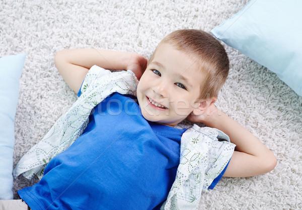 Jongen cute kid vloer naar Stockfoto © pressmaster