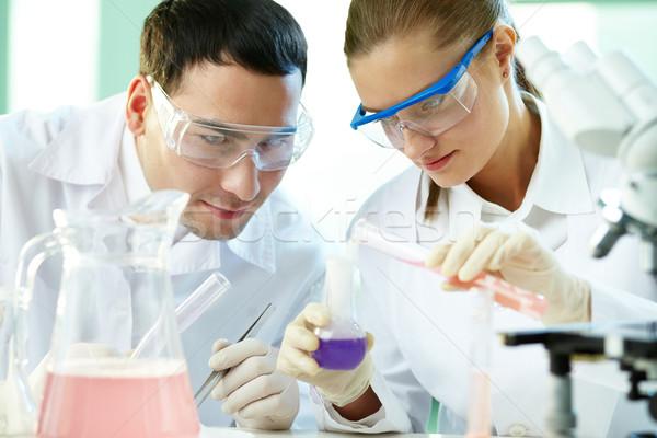 Checking up chemical reaction Stock photo © pressmaster