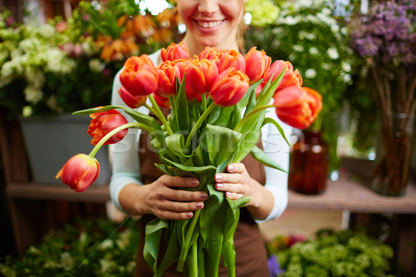 Bunch of tulips Stock photo © pressmaster