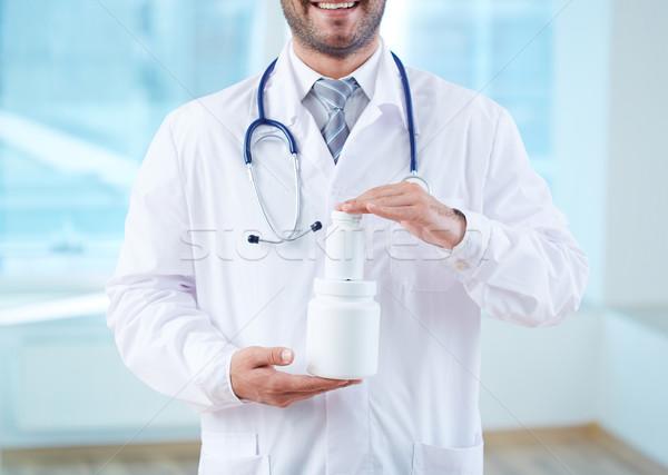 Showing new vitamins Stock photo © pressmaster